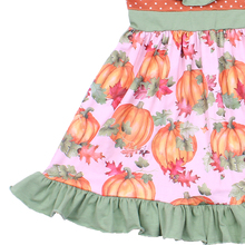 Halloween Girl Pumpkin Printed Boutique Dress
