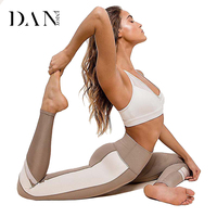 DANENJOY Hot Sexy Patchwork Women Yoga Legging Fitness Thick Women Yoga Pants Gym Tights Workout Jogging Trousers Contrast Color