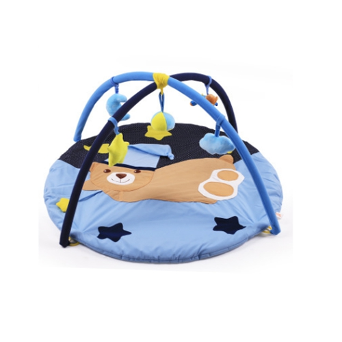 90 cm bébé hochets tapis de jeu ours animaux modèles bébé jeu couverture bébé fitness rack infantile ramper tapis jouets éducatifs