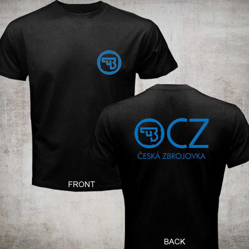 2019 Fashion Hot Sale New CZ Ceska Zbrojovka Czech Firearms T Shirt Tee 2 Sides Tee Shirt