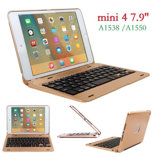 חדש ABS עבור iPad מיני 4 מקרה עם מקלדת כיסוי A1538 A1550 USB Bluetooth אלחוטי עבור iPad mini 4 מקלדת כיסוי 7.9