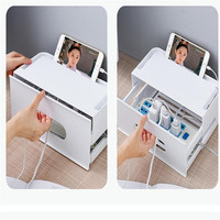 Hard Plastic Power Strip Storage Box Cable Winder Organizer Power Strip Wire Management Container With Cover For Home Safety