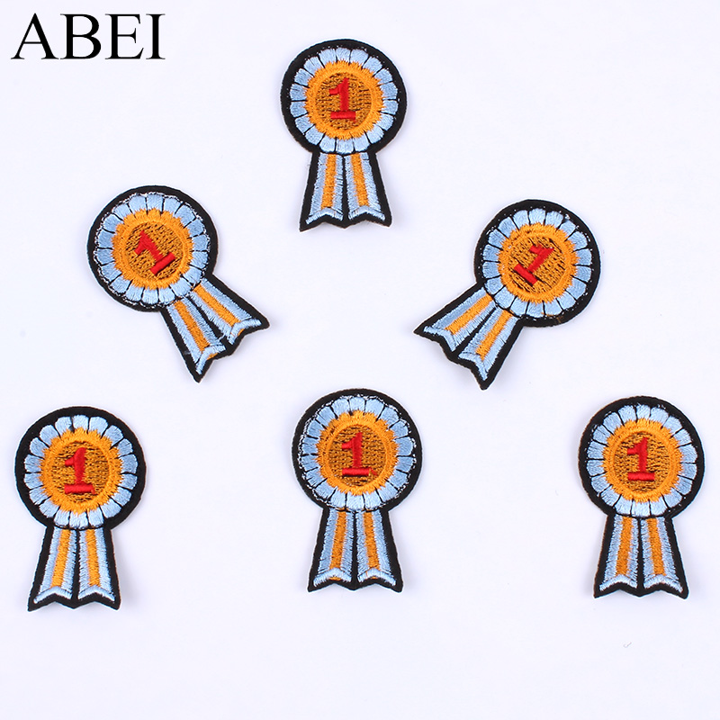 10pcs New Embroidered Fabric Motif Badge Iron On Garments Stickers DIY Patchwork Craft Handmade Jeans Bags <font><b>Coats</b></font> <font><b>Patches</b></font> <font><b>Patch</b></font> image
