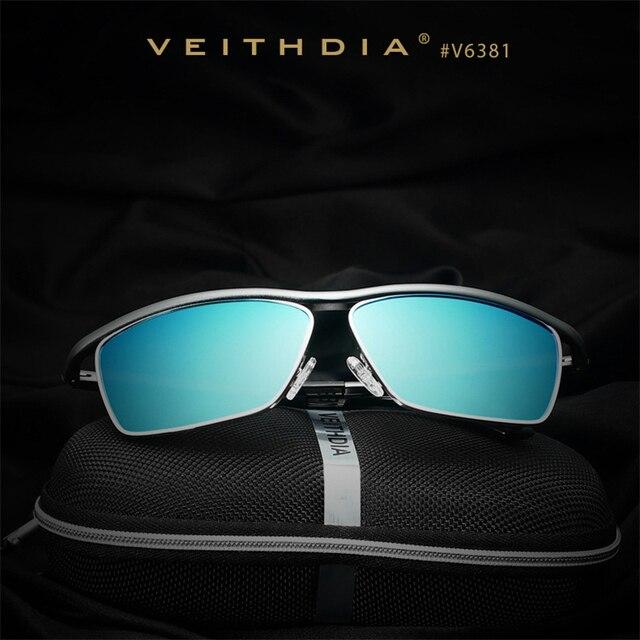 VEITHDIA Brand Aluminum Magnesium Men'S Sun Glasses Polarized Mirror Lens Eyewear Accessories Sunglasses For Men Gafas Sol 6381