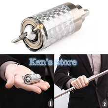цена на Free Shipping Appearing Cane Metal Silver Magic Stick Wand Magic Tricks Close Up Illusion Silk To Wand Magic Props Kid Best Gift