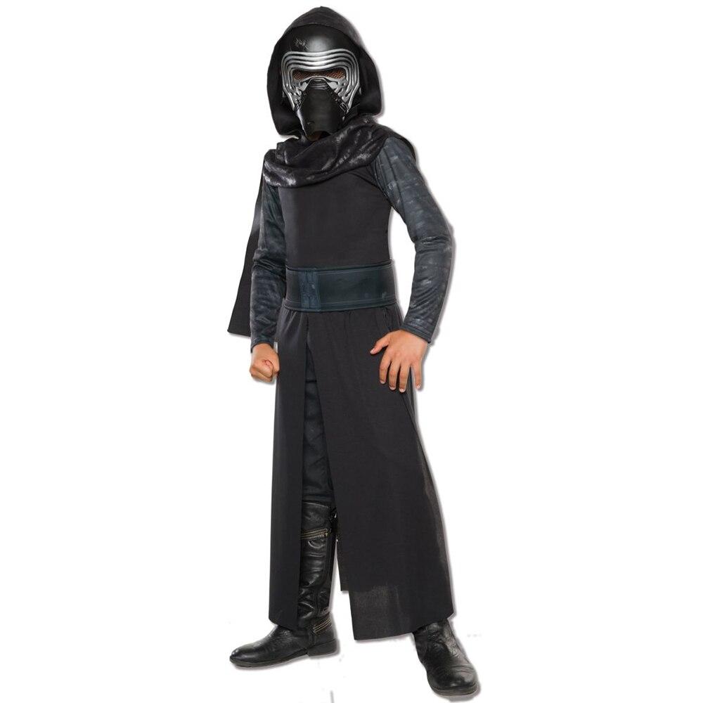 Memune Boys Deluxe Star Wars The Force Awakens Kylo Ren Classic Cosplay Clothing Kids Halloween Costume