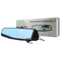Rearview Morror Car Recorder DVR 4.3 Full HD 1080P Dual Lens Front Back Rear View Camera Video Dash Cam Camcorder Detector DVRs