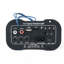 1pc Car Bluetooth Amplifier HiFi Bass Power AMP Stereo Digital Amplifier USB TF Remote For Car Home Accessories 2x36w hifi stereo amplifier 20bit advanced digital tda7379 power stage usb sd amp remote control free shipping