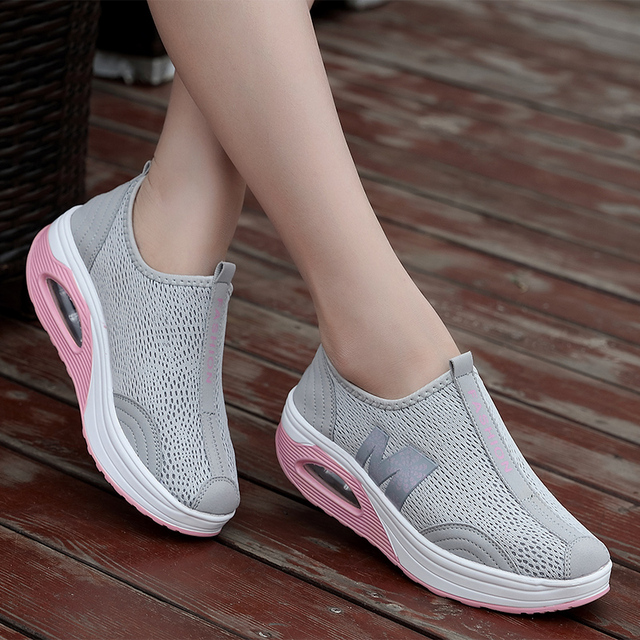 אביב נשים Tenis Feminino סניקרס דירות פלטפורמת נעלי נשים מטפסי רשת נדנדה רשת סניקרס אישה נעליים