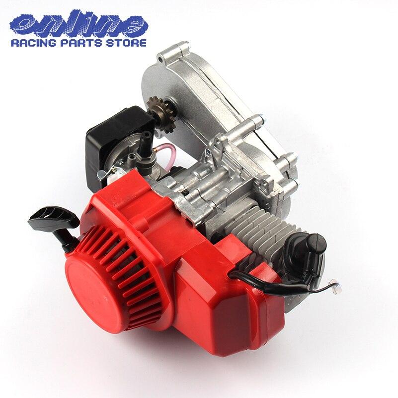49CC 2 suwowy silnik z T8F 14t skrzynia biegów łatwy do uruchomienia motorynka Mini motor terenowy silnika DIY silnika