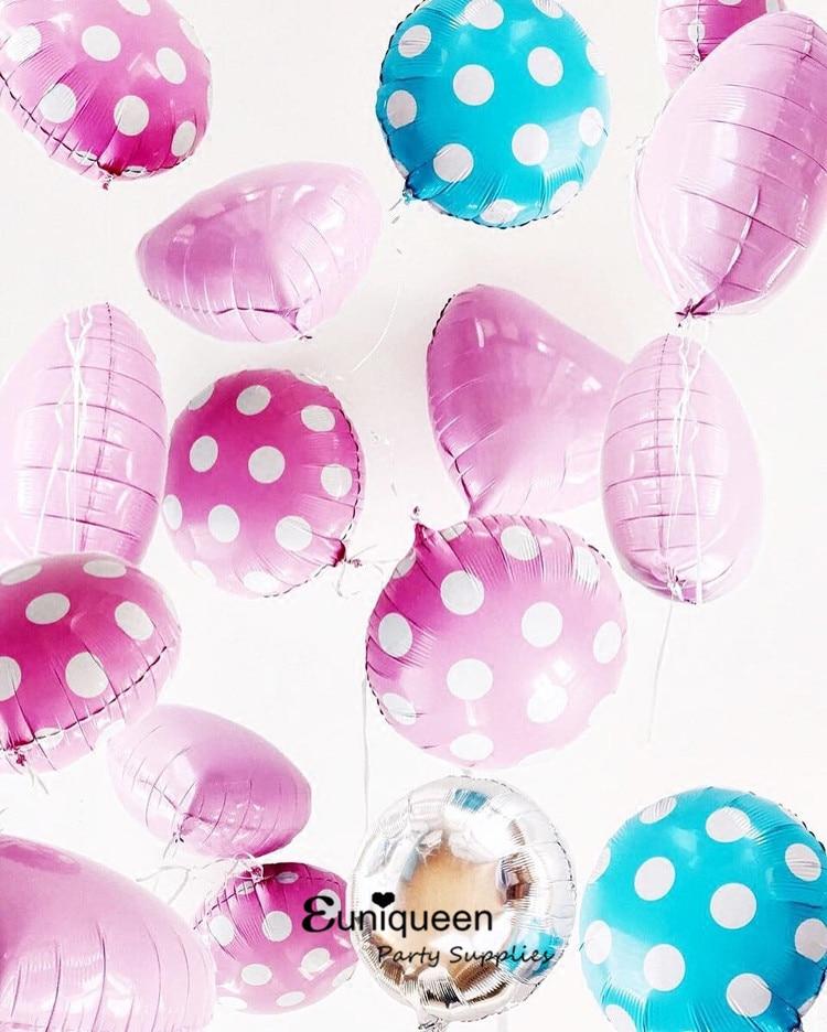 6pcs/lot balloons polka dot round ballon mylar 18inch foil ballon baby shower wedding birthday Anniversary party decoration