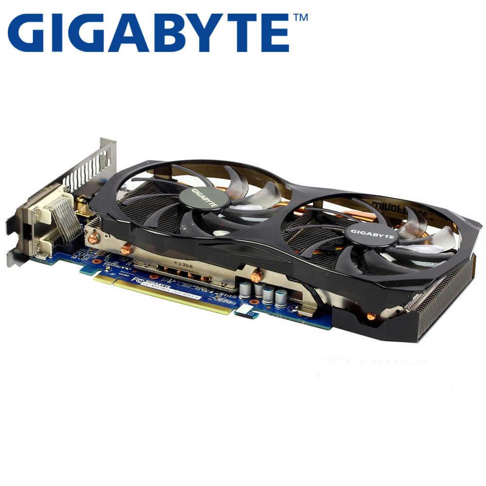Tarjeta gráfica GIGABYTE GTX 650 Ti Boost 2GB 192Bit GDDR5 tarjetas de vídeo para nVIDIA Geforce tarjetas VGA usadas más que GTX 750 TI