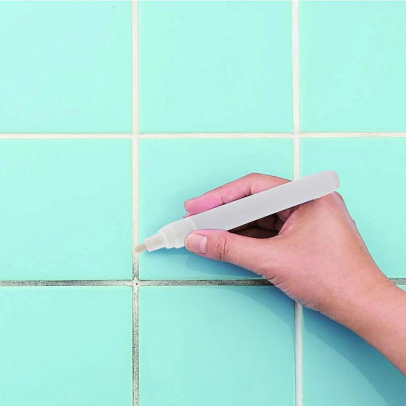 Tile Gap Repair Color Pen White Tile Refill Grout Pen Waterproof Anti-Mould Filling Agents Wall Porcelain Bathroom Repair Tool
