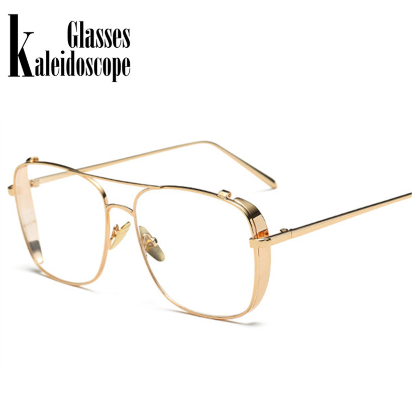 0015f7ed3b Detail Feedback Questions about Kaleidoscope Glasses Oversized Alloy Men  Eyeglasses Transparent HD Lens Sunglasses Women Optical Glasses Frames  Vintage ...