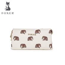 FOXER free delivery   2016 new small fresh printing Purse Hand ring bag Horizontal Wallets