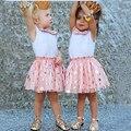 Coréia do sul Estilo 2-6 Anos de Idade Meninas Vestido de Verão Linda Dot vestido de Baile de Moda de Boa Qualidade para Crianças Rendas Verão vestido de Crianças