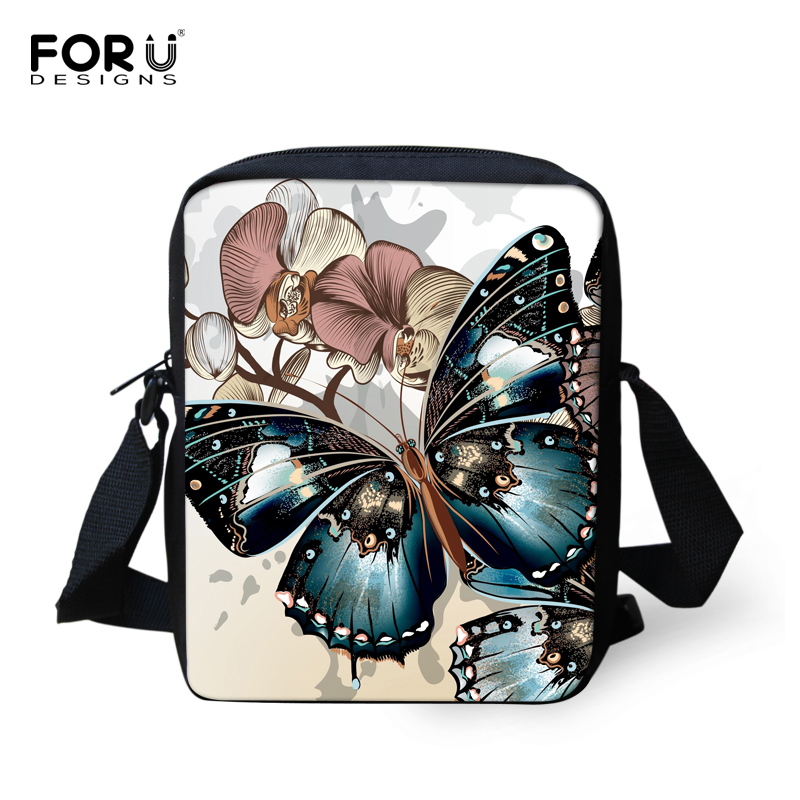 FORUDESIGNS Children Crossbody Bags for Women Butterfly Printing Kids Casual Mini Bags Female Girl Messenger Bags Bolsos Mujer ...