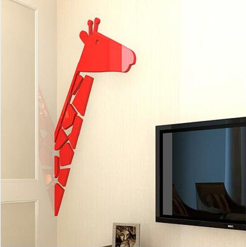 4 barvy Creative Deer 3D stereoskopické akrylové nástěnné nálepky dětské pokoje nástěnné nálepky ložnice obývací pokoj TV pohovka Domácí výzdoba