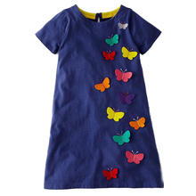 Vestidos Girls Summer Dress 2019 Brand Animal Unicorn Princess Dress Children Costume for Kids Clothes Flamingo