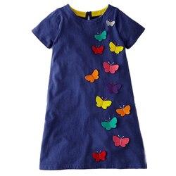 Vestidos meninas vestido de verão 2019 marca animal unicórnio vestido de princesa crianças traje para crianças roupas flamingo bebê vestido 1-6 t