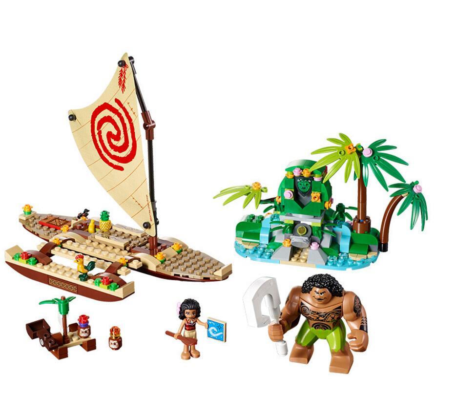 Lepin vaiana Moana's Ocean Voyage 322 Pcs Princess Moana 41150 Girls Friends Set Models & Building Blocks Toys цена