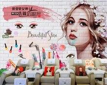 beibehang Dream fashion creative papel de parede wallpaper Korean set makeup tattoo beauty nail background papier peint behang