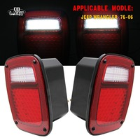 CO LIGHT Turn Signal Drl 2Pcs Brake Light For 4X4 Off Road Jeep Wrangler Jk Cj