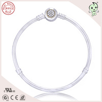 New Arrival Popular Gold Plating Clasp 925 Geniune Silver Bracelet Fitting European Charms