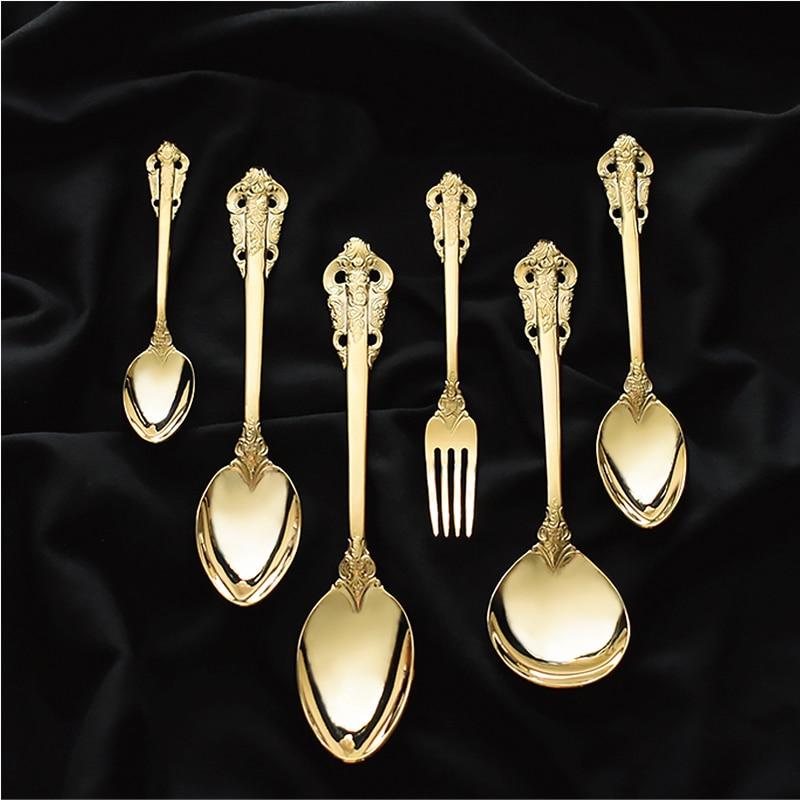 10pcs golden cutlery set  (8)
