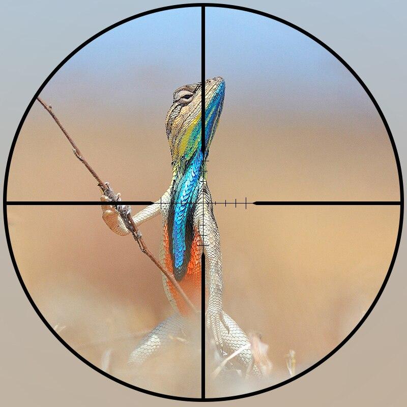 FIRE WOLF 4.5x20 portée de fusil de chasse compacte visée optique tactique lunette de visée réticule P4 avec capuchons et anneaux d'objectif à ouverture rabattable - 2