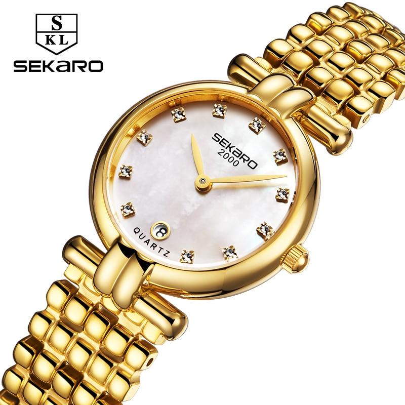 Sekaro Բնական Տիկնայք Ժամացույց Ոսկի - Կանացի ժամացույցներ - Լուսանկար 4