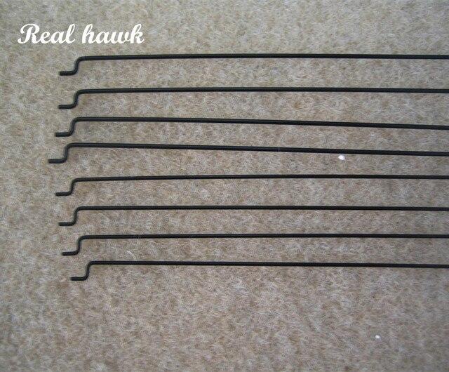 10 piezas. tipo Z D1.0/1,2/1,5mm varilla de empuje de alambre de acero varilla de empuje para rc varilla de conexión de empuje de avión