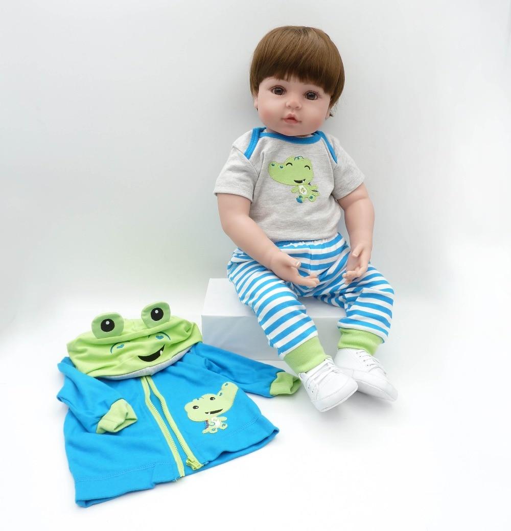 Image 5 - Babies reborn doll 47 cm new handmade silicone reborn baby Lifelike adorable boy Bonecas girl kid silicone menol lol doll-in Dolls from Toys & Hobbies