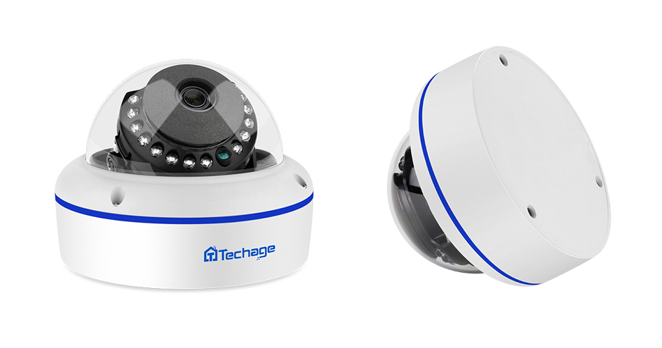 Techage 4mp 5mp h.265 câmera de segurança