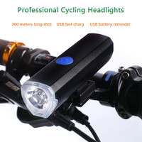 Leadbike Professional Bicycle Headlights Usb Battery Rechargeable Bike Front Light Led Flashlight Torch Bicycle Accessories LD20