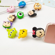Wholesale Socket Car Phone Holder Cartoon Protector Cable Cord Saver Cover Coque For iPhone 8 Plus 5 5S 5C 6 6S 7 X Xs Max XR fffas cartoon usb cable protector phone line winder cover case wire organizer clip holder for iphone 4 5 5s 6 6s 7 7s 8 x plus