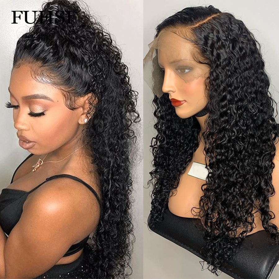 360 Lace Frontal Wigs For Black Women Pre Plucked Natural Hairline 180 Density Brazilian Remy Hair