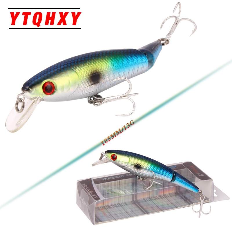 YTQHXY Good minnow Crankbait 105mm 13g Sinking Fishing Lures jointed bait Crankbait 3D eyes Wobblers Fishing Gear YE-222 savage gear dying minnow