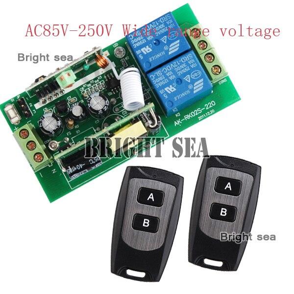 2 Range 2chwide AC85V-280V RF sistema de control del hogar Inteligente de contro