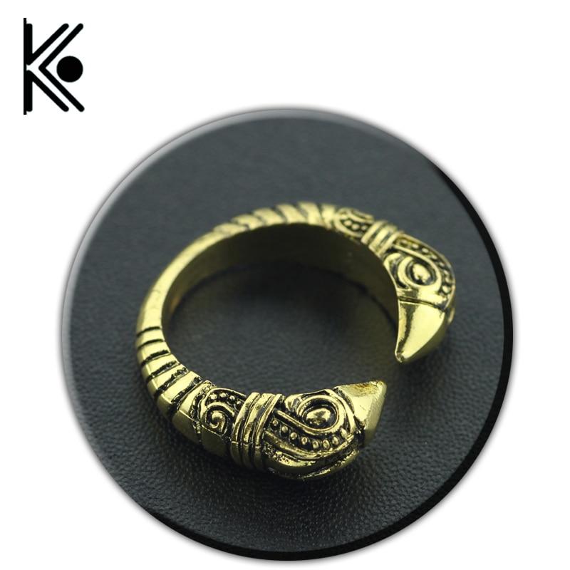 grossist vikingar Wolf kategori Norse vikingar ring Valknut justerbara ringar Knut Viking Amulet smycken nordiska talisman