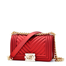Women leather Shoulder bag Fashion Sac Chains luxury handbags women bags designer ladies Tote Crossbody Top-handle bag quilted