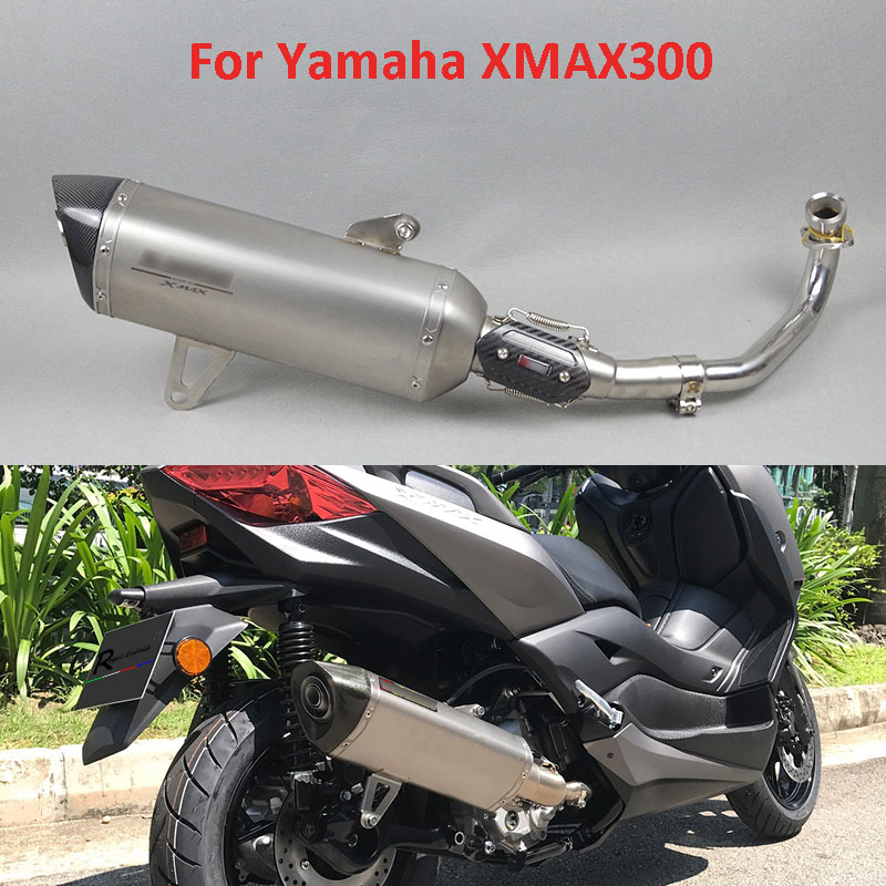 Pipe Muffler Exhaust-System Motorcycle XMAX300 Front-Link-Pipe Slip-On Full-Set Yamaha