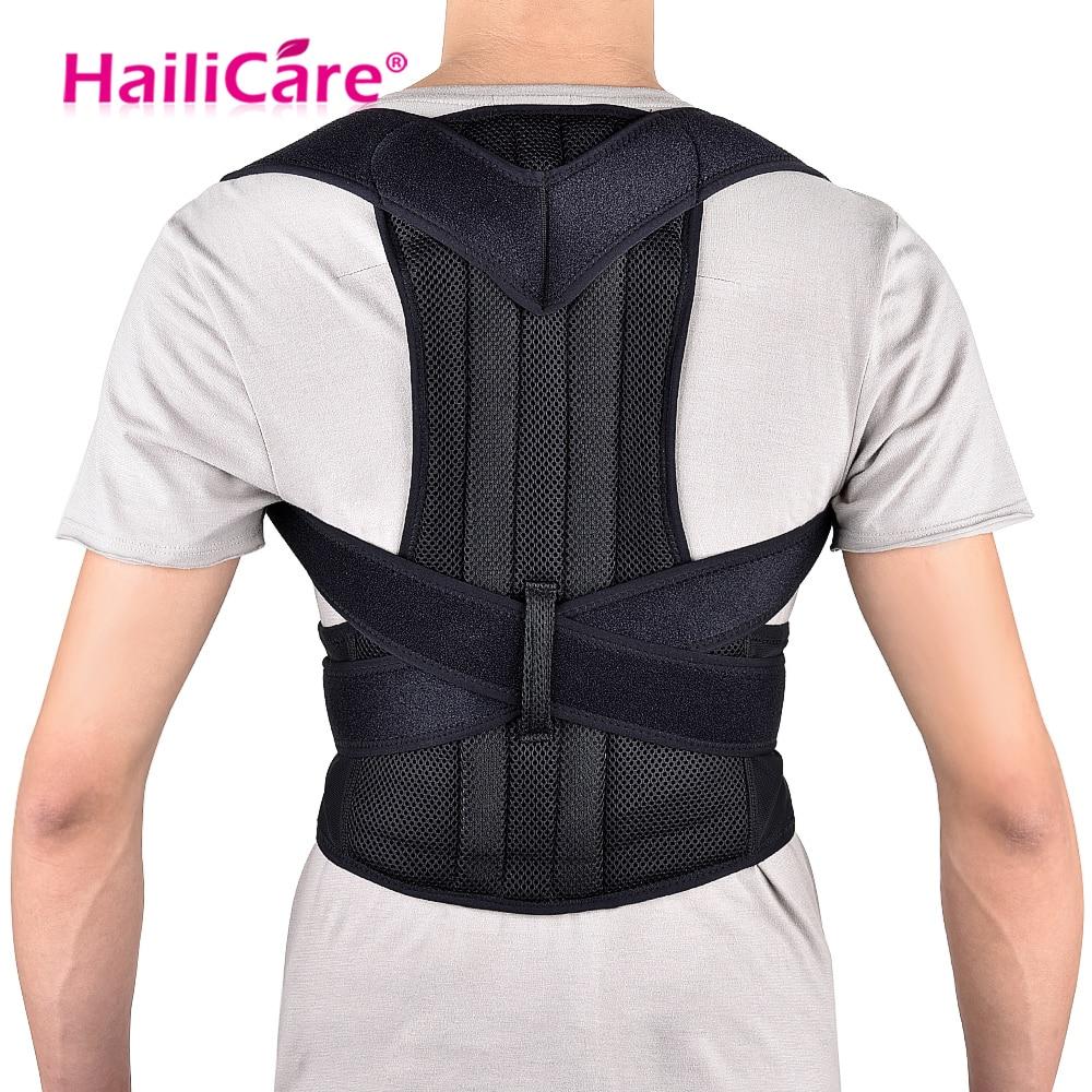 купить Back Posture Belt Corrector Posture Correction Belt Shoulder Lumbar Brace Spine Support Adjustable Adult Corset Body Care онлайн