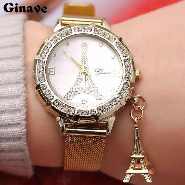 cb0447b16a7e 197.64 руб. 52% СКИДКА|Женская Мода Красота башня Подвеска часы Для женщин  s женский ...