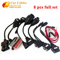 Best quality 8 pcs full set tcs CDP car cables TCS 8 pcs car cables with diagnostic Tool Interface for CDP cable free shipping