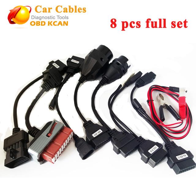 Melhor qualidade 8 pcs conjunto completo tcs CDP cabos carro TCS 8 peças do carro cabos com cabo de Interface da Ferramenta de diagnóstico para CDP frete grátis