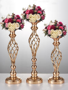 IMUWEN Vases Candle-Holders Centerpiece Flowers Metal-Stand Party-Decor Road-Lead-Table
