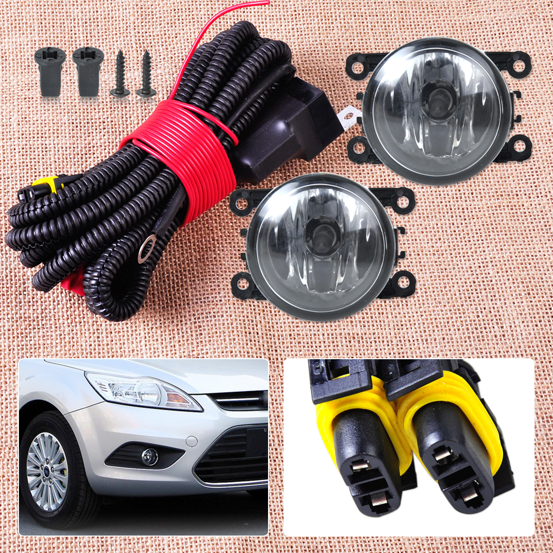 popular fog light connector buy cheap fog light connector lots beler h11 12v wiring harness sockets wire connector 2 fog lights lamp for ford focus