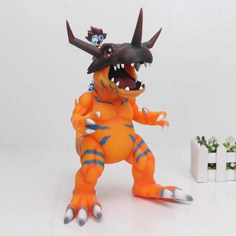 Oyuncaklar ve Hobi Ürünleri'ten Aksiyon ve Oyuncak Figürleri'de Süper Büyük 30 cm Dijital Digimon Greymon ve Taichi Yagami Aksiyon Figürü YAGAMI TAICHI Greymon PVC Şekil Oyuncak'da  Grup 1