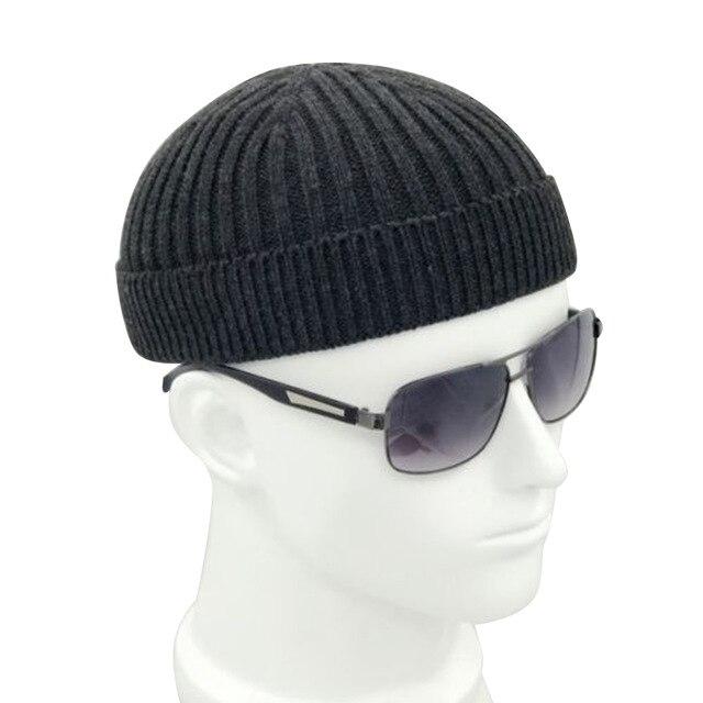 ретро темно синяя модная теплая шапочка с черепом для взрослых